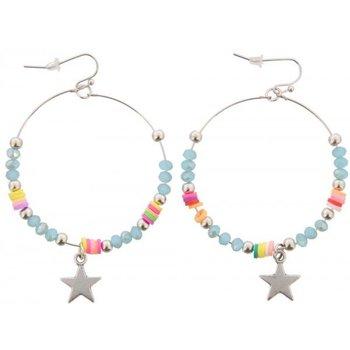 Oorbellen Ibiza blue & star