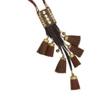 Yehwang Ketting lang Aztec bruin Tassels