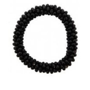 Armband bling kraaltjes zwart