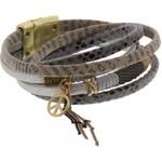 Armband wrap Ibiza grijs magneetsluiting