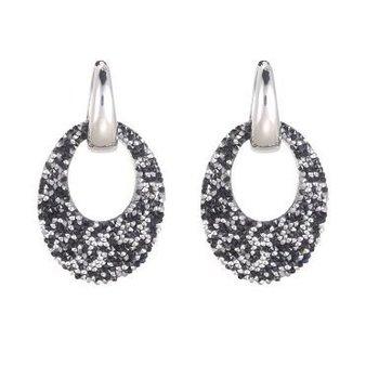 Oorbellen Sparkle Season zwart-zilver