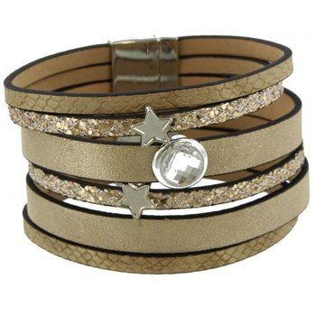 Armband exclusief beige-goud