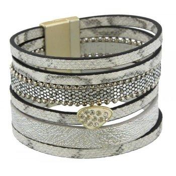 Armband exclusief grijs-zilver