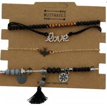 Armband set a 4 Love & Beads
