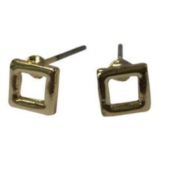 Jozemiek Oorbellen Minimalistic studs vierkant goud