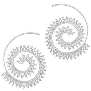 Oorbellen Vintage Spiral zilver 2