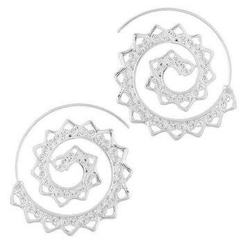 Oorbellen Vintage Spiral zilver 3