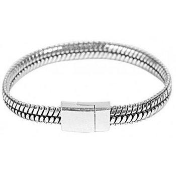 Armband schakels magneetslot zilver