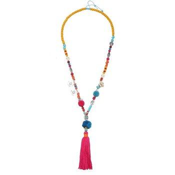 Ketting lang Boho Hippie multicolor