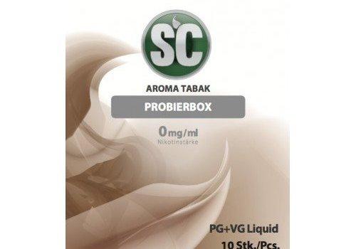 SILVER CONCEPT TOBACCO PROBIERBOX E-LIQUID für e-zigaretten