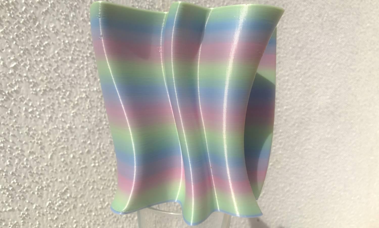 Vase Silky Rainbow pastel