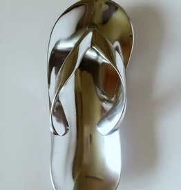 Extravagante Deko Schale Flip Flop aus Aluminium, 23 cm