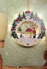 """3D Holzbild """"Jäger"""" Weihnachtsdeko beleuchtet"""