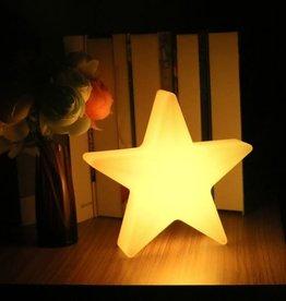 LED Stern Beleuchtung , kabellos mit Farbwechsel, Fernbedienung, Akku, 60 cm x 60 cm x 15 cm