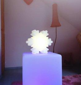 LED 2er-Set Schneeflocken + Würfel, kabellos mit farbwechsel