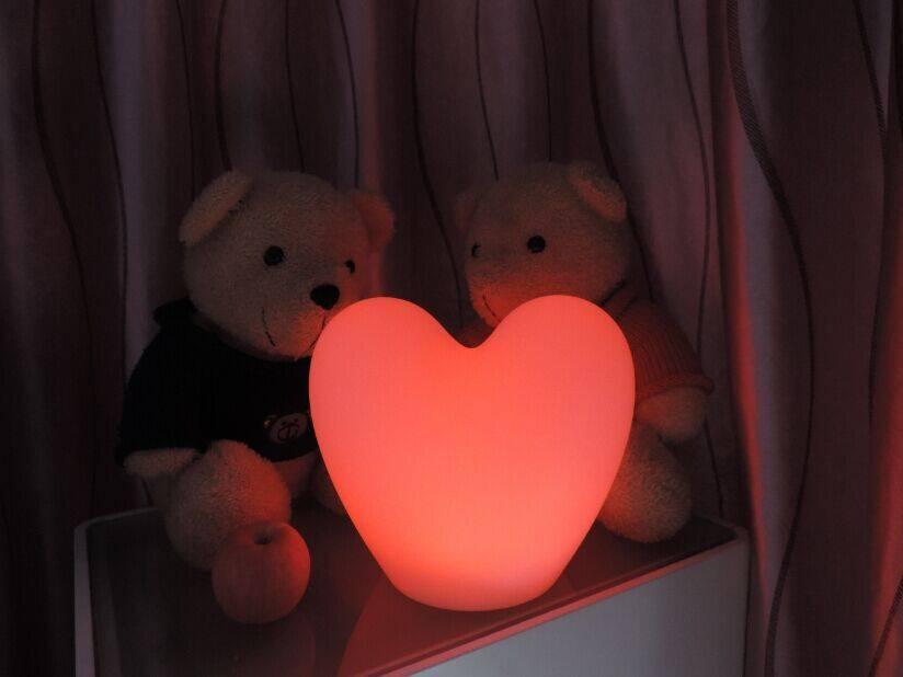 LED 2er-Set Schneeflocken + Herz, kabellos mit Farbwechsel