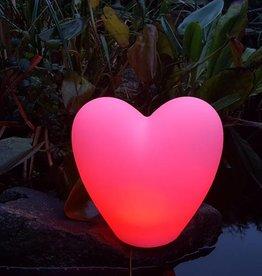 LED Herz Beleuchtung , Valentinstag, Liebe, Geschenk,  kabellos, Fernbedienung, Akku,  25 cm x 18 cm x 23 cm