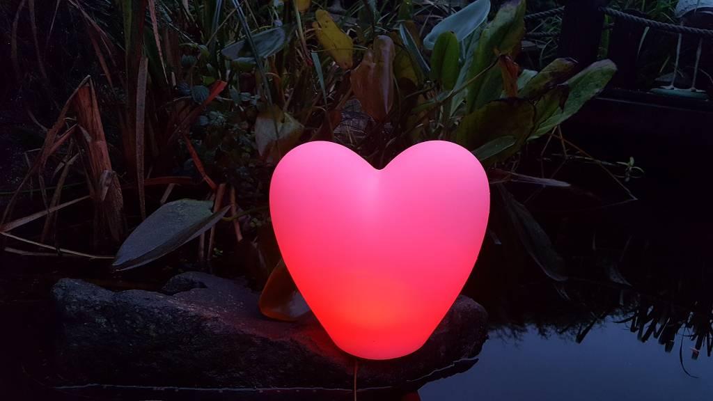 LED Herz Beleuchtung , Liebe, Geschenk,  kabellos, Fernbedienung, Akku,  25 cm x 18 cm x 23 cm