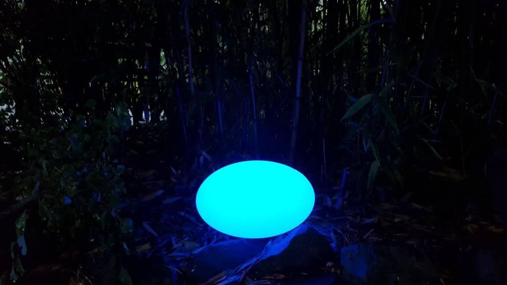 LED ovaler Beleuchtungskörper , kabellos mit Farbwechsel, Fernbedienung, Akku,  31 cm x 31 cm x 18 cm