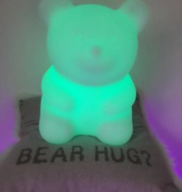 LED Bär Beleuchtung , kabellos mit Farbwechsel, Fernbedienung, Akku, 28 cm x 28 cm x 33 cm