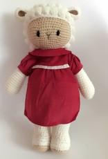 Schaf Barbara (plus zwei weitere Outfits gratis), Länge 37 cm