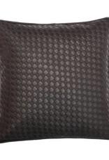 Kosmetiktücherbox, Utensilo und Kissen aus schwarzem Kunstleder,  Deko Set + Geschenk gratis