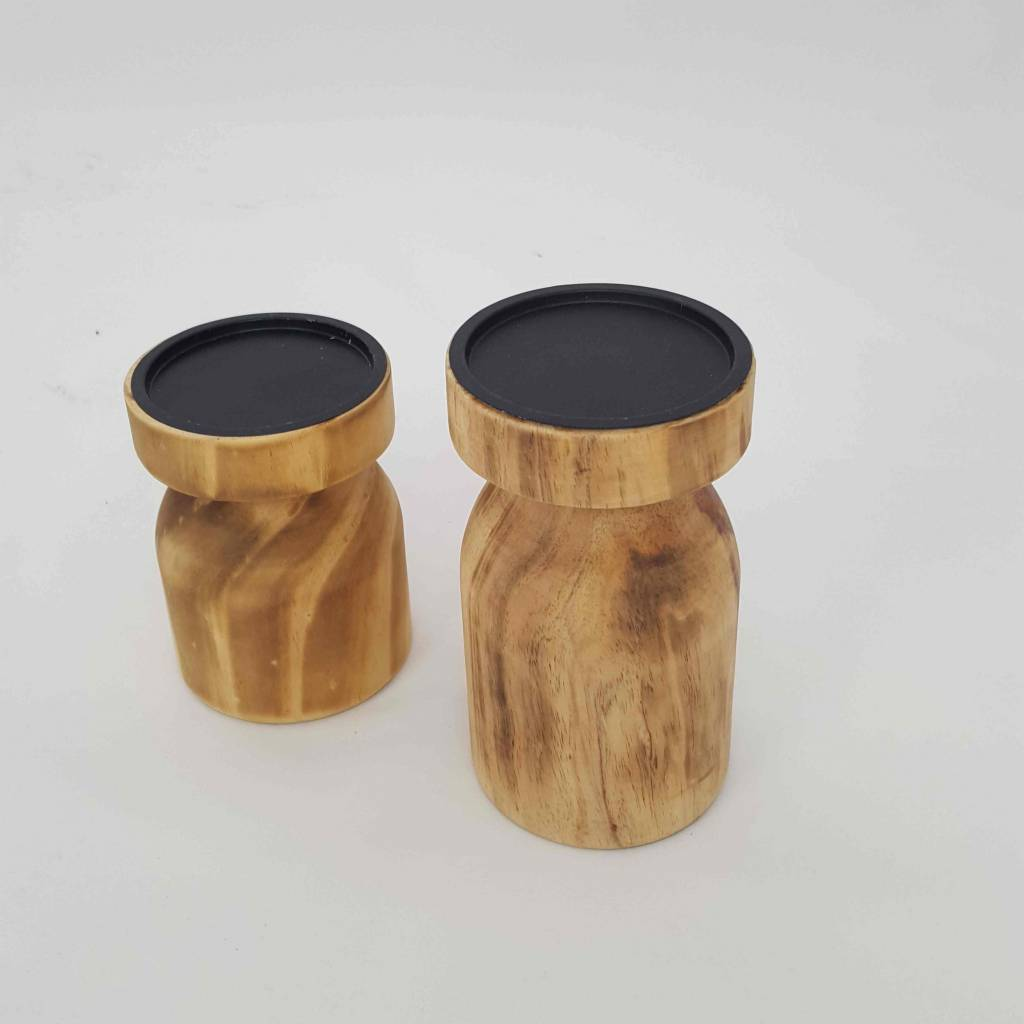 Kerzenhalter 2-er Set, Holz
