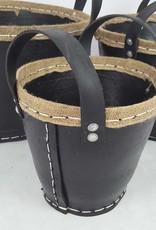 Decor Of World Tragekörbe  3er Set - aus recycelten Autoreifen mit Jute