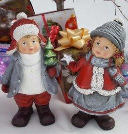 Decor Of World Winterkinder Figur 2er Set - Junge & Mädchen