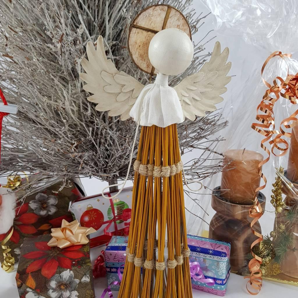 Decor Of World Drei Engel Set aus Kokosfaser