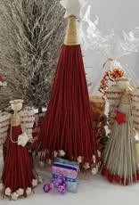 Decor Of World Zwei Engel mit einem Weihnachtsbaum aus Kokosfaser