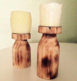 Kerzenhalter Kerzenständer 2-er Set, Holz