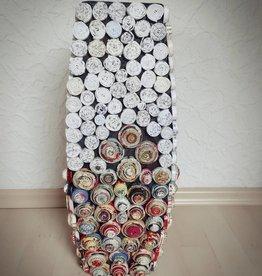 Ausgefallene bunte und trendige Vase (H 60 cm) aus Recyclingpapier, handgefertigt