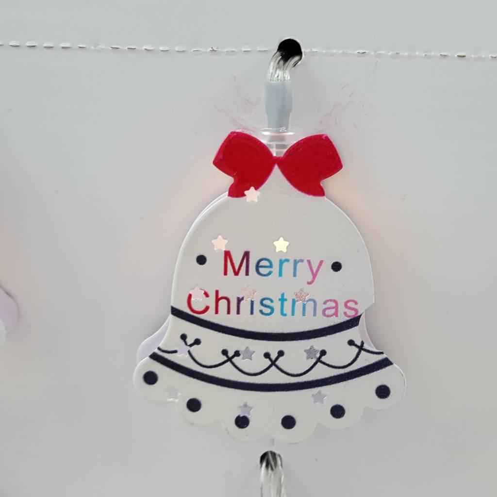 Decor Of World Lichterkette 2er Set Weihnachtsmann + Weihnachtsglocke