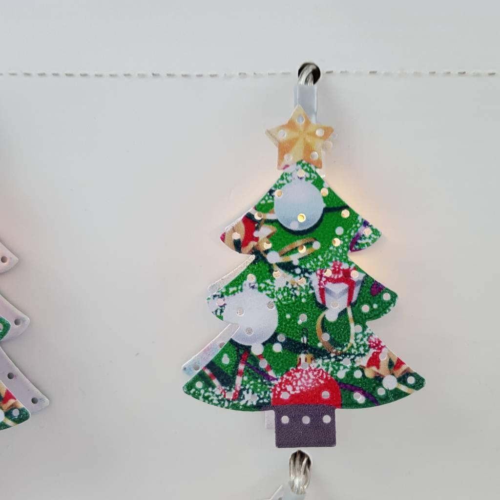Decor Of World Lichterkette 2er Set Weihnachtsmann + Tannenbaum