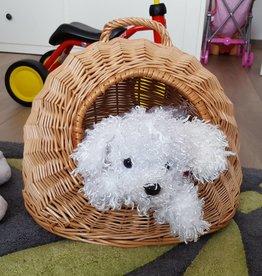 Decor Of World Frühlings- Sonderaktion 30% Rabatt Hunde und Katzen- / Haustiertransporter mit Kissen aus Weide geflochten