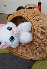 Decor Of World Hunde und Katzen- / Haustiertransporter mit Kissen aus Weide geflochten