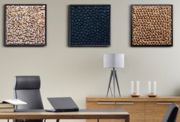 "Decor Of World  ""Wall Art"" dekorativ abstrakte Wandbilder  im 3D- Look"