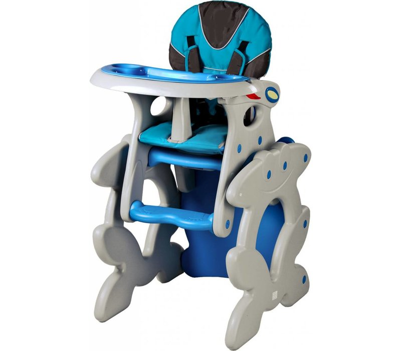 Kinderstoel Primus blauw is een leuke meegroeistoel
