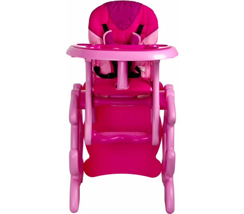 Kinderstoel Primus roze is een leuke meegroeistoel