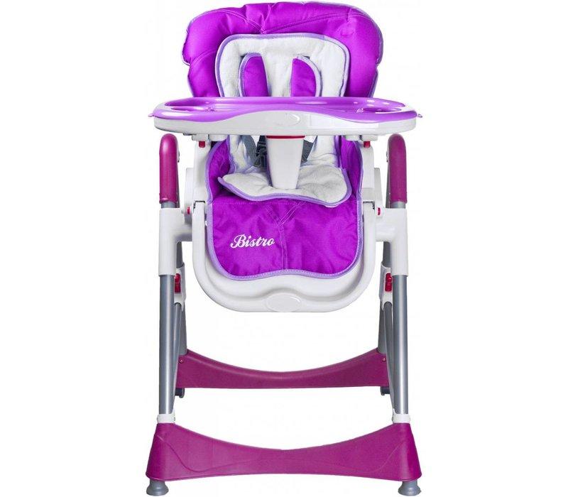 Kinderstoel Bistro paars is in leuke kleuren te verkrijgen