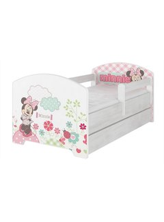 Compleet Disney kinderbed met lade & gratis matras - Minnie met bloemen