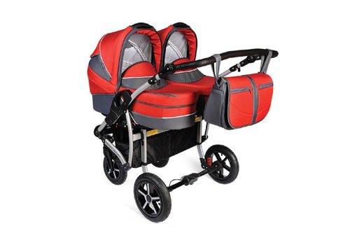 Tweeling kinderwagen Linen - rood