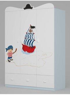 Kinderkamer kledingkast Piraten 135