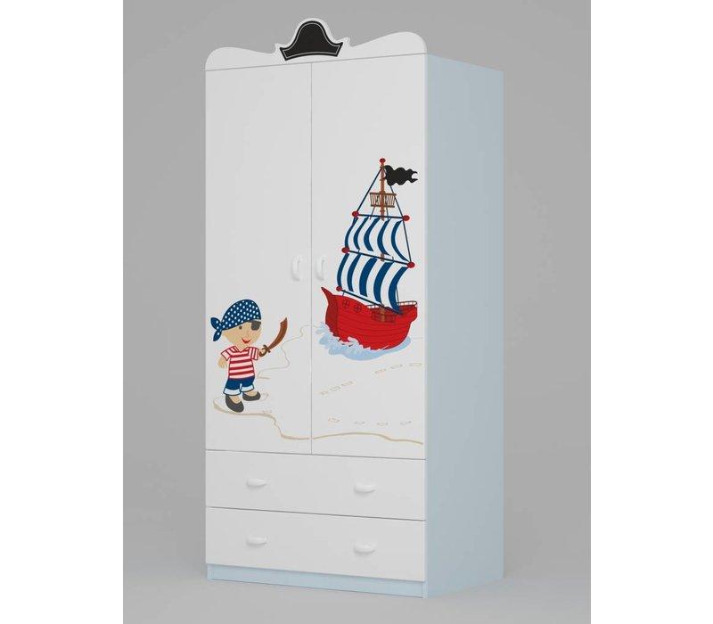 Kinderkamer kledingkast Piraten 90