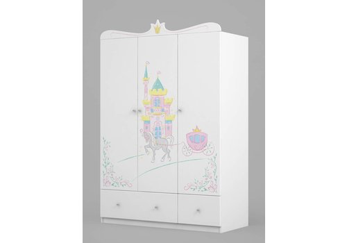 Kinderkamer kledingkast Magic Princess 135