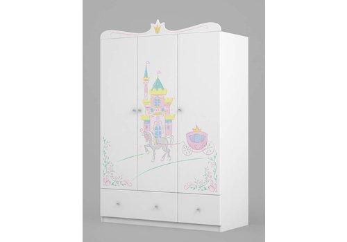 Kinderkamer kledingkast Magic Princess 135
