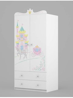 Kinderkamer kledingkast Magic Princess 90