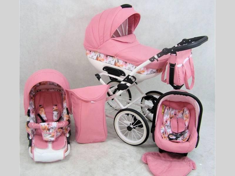 de roze kinderwagen favoriet voor meisjes