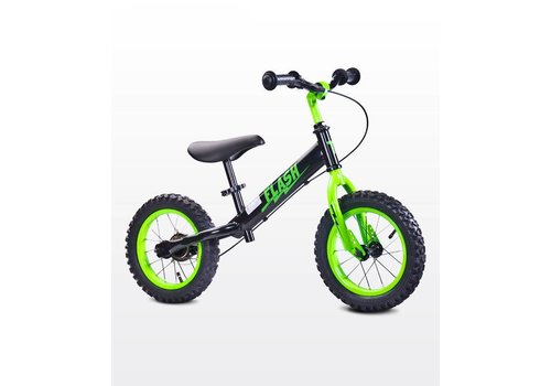 Metalen loopfiets Flash - groen